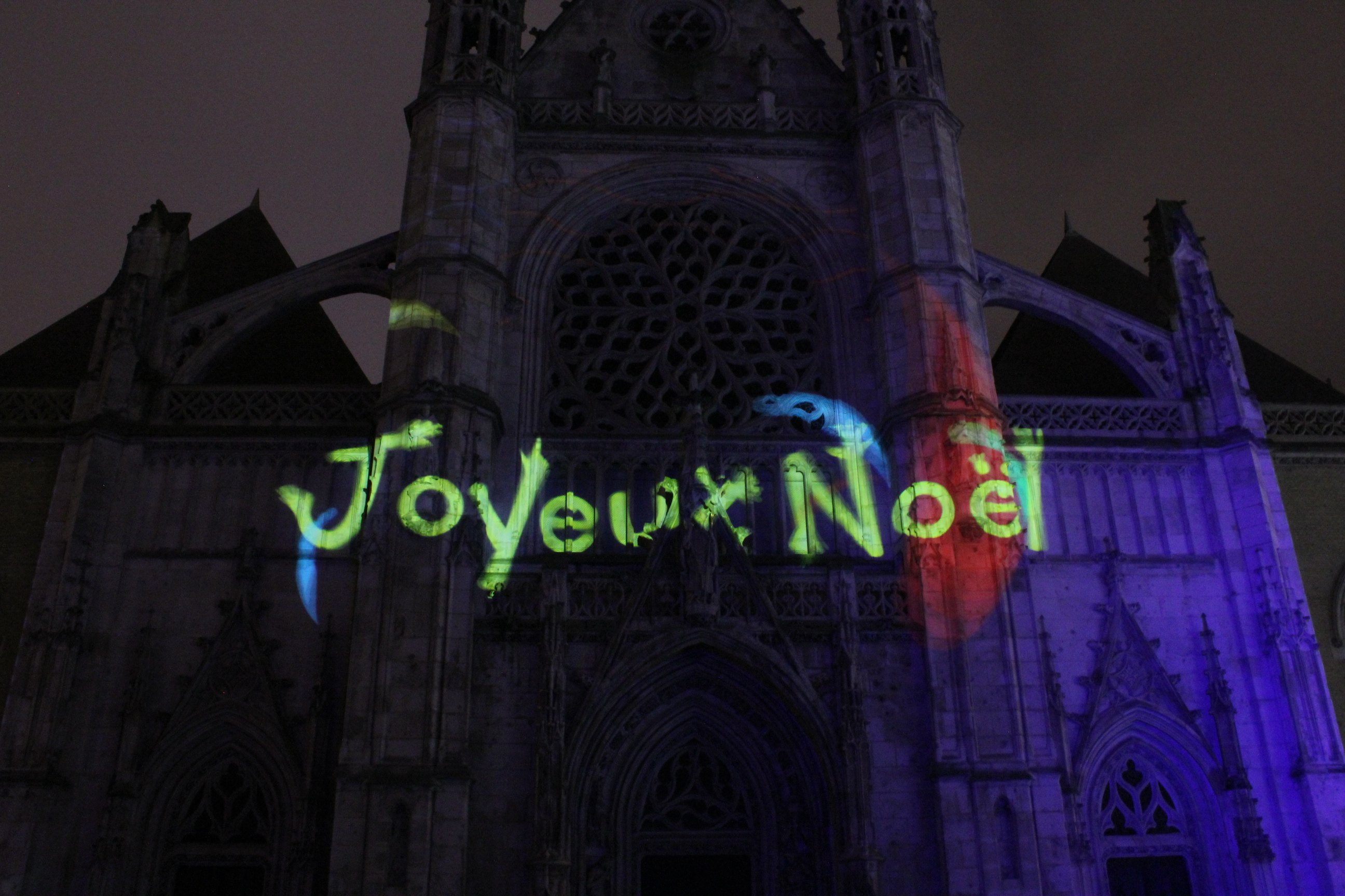 Dunkerque Mapping Noël